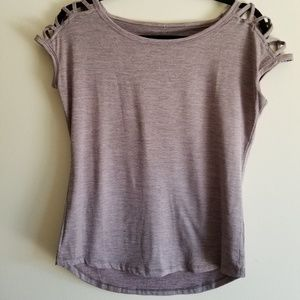 MAURICES IN MOTION Short Sleeve Top Open Shoulder
